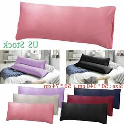 1-2Pcs Body Pillow Case Ultra Soft Microfiber Long Bedding P