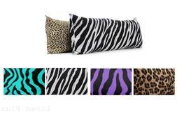 1 Piece Zebra Leopard Purple White Black Body Pillow COVER C