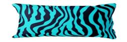 1 Piece Zebra Turquoise Black Body Pillow COVER Case Soft  N