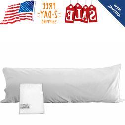 Darware 100% Cotton Body Pillow Case Cover; 20 x 54 Inches W