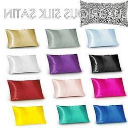 1Pc Silky Soft Satin Standard or Body or European or V Cushi