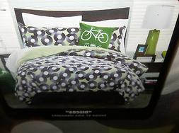 2 Piece Full Queen Duvet Cover & Body Pillow Cover DJ Record