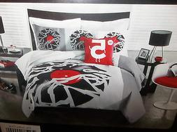 2PC Threadless Twin XL Duvet Cover & Body Pillow Cover Recor