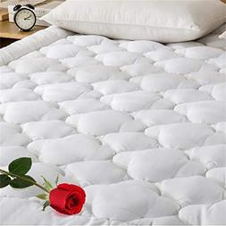 DOWNCOOL 300T 100% Cotton Quilted Fitted Mattress Pad - Cool