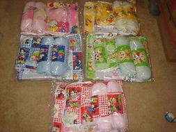 4 pcs baby pillow set with one pillow, two body pillow & wat
