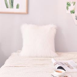 45cmx45cm Simple Plush Pillowcase Casual <font><b>Faux</b></