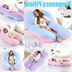 "57.1"" x 31.5"" Pregnancy Pillow Maternity Contoured Body U Sh"