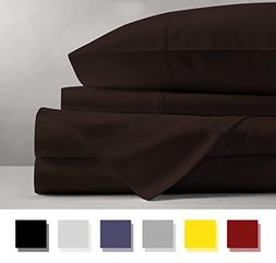 600 Thread Count 4-Piece 100% Cotton Sheets - White Long-sta