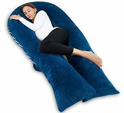 "Meiz 65"" Full Body Pregnancy Pillow and Maternity Pillow, Bl"