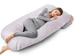 AngQi 60-inch Full Pregnancy Pillow, U Shaped Body Pillow, M