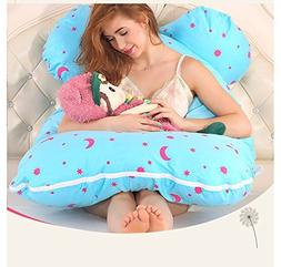 Asamoom Pregnancy Pillow, Full Body Maternity Pillow with Co