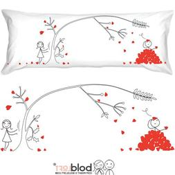BoldLoft Love You Madly Body Pillowcase- Romantic Gifts for