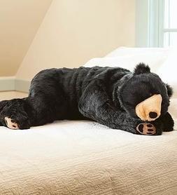 Black Bear Animal Giant Plush Stuffed Body Hug Pillow for Ki