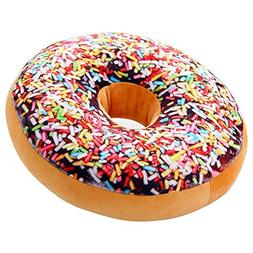 ChezMax Round Doughnut Donut Back Stuffed Cushion Insert Fil