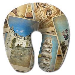 Creative Travel Wallpaper Design Comfortable U Shaped Neck P