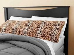 Elegant Faux Fur Body Pillow Cover - Removable with Zip Cove