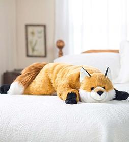 Fuzzy Fox Animal Giant Plush Stuffed Body Pillow for Kids Te