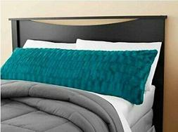 Idea Nuova Teal Textured Body Pillow Cover 20x52