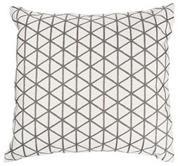 Lavish Home 66-10-Ibr Modern Throw Pillow, Ivory Taupe