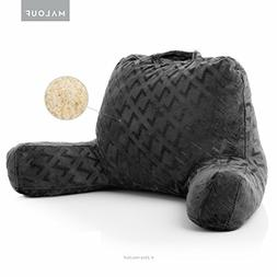 MALOUF Z Foam Filled Reading Pillow With Super-Soft Velour C