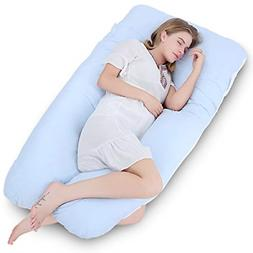 "Meiz 60"" Pregnancy Body Pillow with Washable Cotton Cover fo"