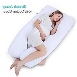 Meiz Pregnancy Pillow with Jersey Cover - U Shaped - Pregnan