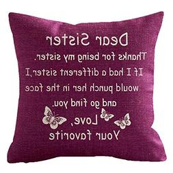 NIDITW Great Gift For Sister Quote Thanks For Being My Siste
