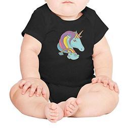 PPLOPO Rainbow Fairy Unicorn Princess Romper Bodysuit Funny