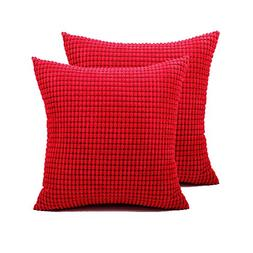 Pack of 2,Bolster Throw Pillow Covers Cases for Couch Sofa B