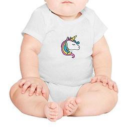 Sleeping Unicorn Quiet Beautiful Baby Romper Bodysuit Novelt