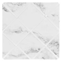 Sweet Jojo Designs Modern Grey, Black and White Marble Print