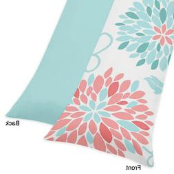 Sweet Jojo Designs Modern Turquoise and Coral Emma Full Leng