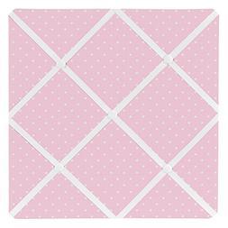 Sweet Jojo Designs Pink Polka Dot Fabric Memory/Memo Photo B