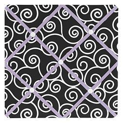 Sweet Jojo Designs Purple and Black Kaylee Fabric Memory/Mem