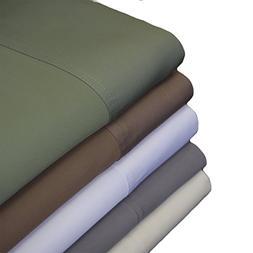 Abripedic 100% Bamboo Set of 2 Pillowcases, 600TC - Standard