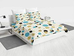 Abstract Decor 6 pc Bedding Set Trippy Geometric Circles Dot