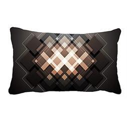 AoLian CYW Abstract Geometric Pattern Brown Pillow Case 13 X