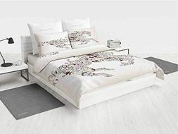 Abstract Home Decor 6 pc Bedding Set Abstract Floral Horse F