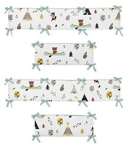 Outdoor Adventure Collection Crib Bumper by Sweet Jojo Desig