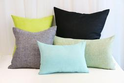 Aiking Home Woven Fine Faux Linen Throw Pillow Cover--Multi