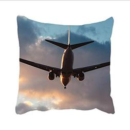Dolores Joule Airplane In The Sky Art Pillowcase -Pillowcase