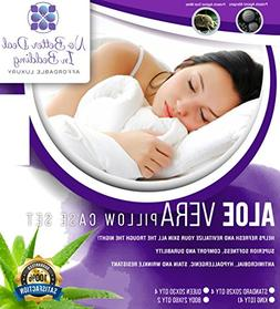 No Better Deal In bedding 2 Pack Aloe Vera Pillow Case Cover