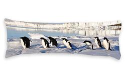 "Diuangfoong Antarctic Penguins Body Pillow Covers Cases 20""x"