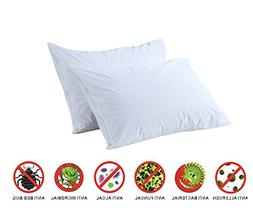 Anti Allergy Bed Bug Dust Mite Proof Pillow Protectors Pair