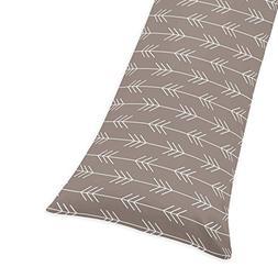 Arrow Print Full Length Double Zippered Body Pillow Case Cov