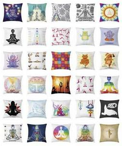 Asian Yoga Throw Pillow Cases Cushion Covers Home Decor 8 Si