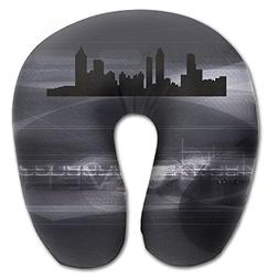 Atlanta Skyline Vector Super Comfortable U Type Pillow Neck