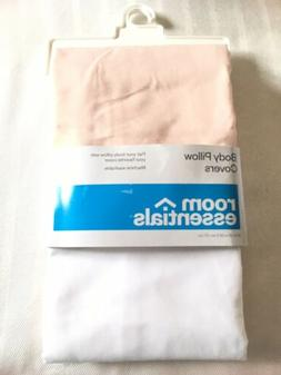 B60 2 Pack of Body Pillow Covers Case Pink & White BRAND NEW