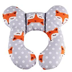 KAKIBLIN Baby Travel Pillow, Infant Head and Neck Support Pi