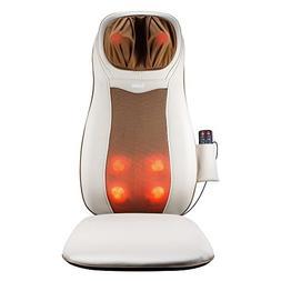Back Massager, Shiatsu Seat Cushion with Heat and Vibrating,